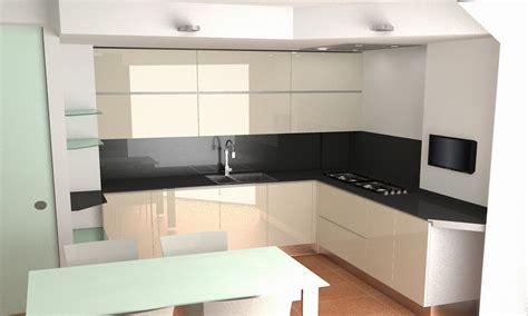 cucina vetro progetto cucina artematica vitrum con rendering