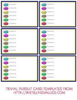 blank trivial pursuit card template blank tab and type trivial pursuit cards by shauna conway