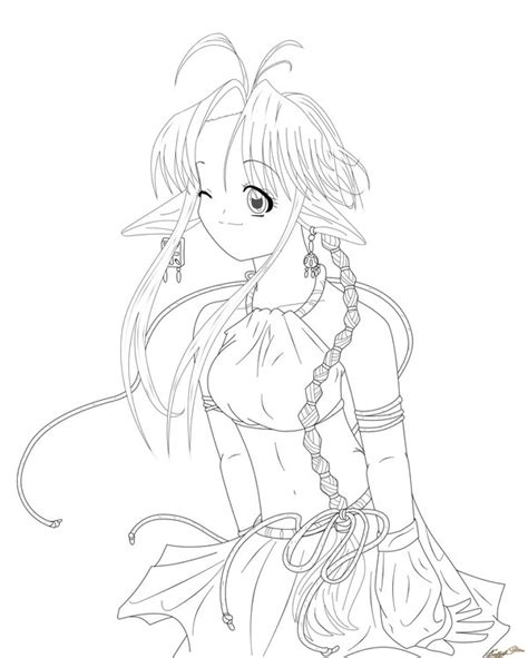 Anime Elf Coloring Pages | anime elf warrior coloring pages coloring pages
