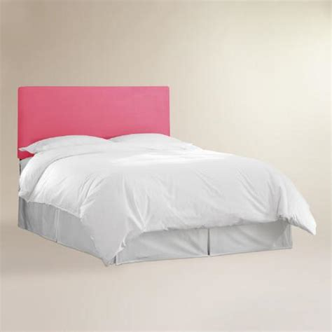 pink queen headboard pink velvet parke full queen headboard world market