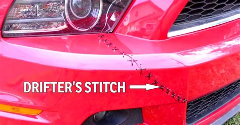 How To Give A Broken Bumper The 'Drifter's Stitch'