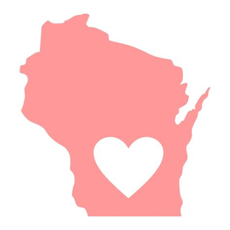 Cool And Designer State Of by Wisconsin Home State Svg Cuttable Designs