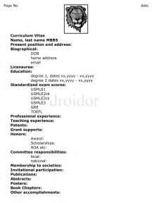 cv for residency usmle and residency tips preparing your cv resume for