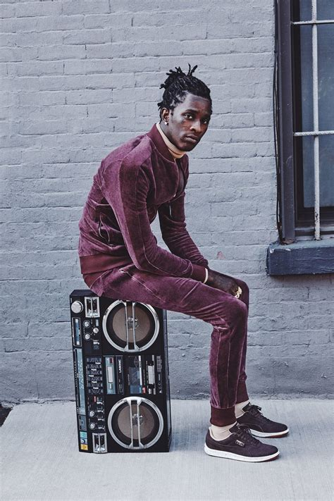 young thug gq young thug will make you want to buy a tracksuit right now
