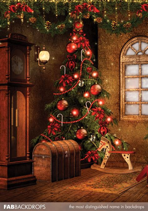 fab vinyl victorian christmas tree backdrop