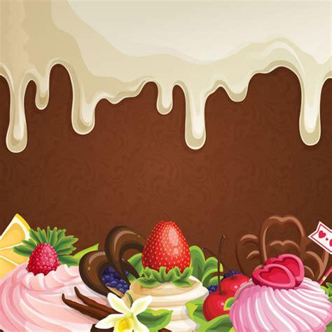 Wallpaper Flower Background Coklat sweet with drop chocolate background set vector 06