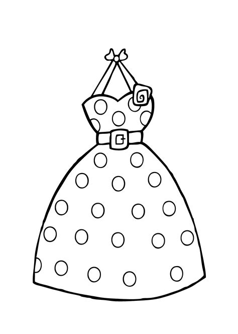 coloring page of a dress dress coloring pages to download and print for free