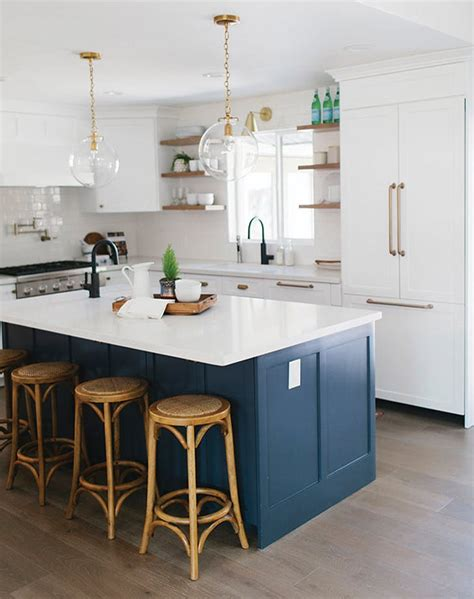 navy blue kitchens are gorgeous and trending purewow with