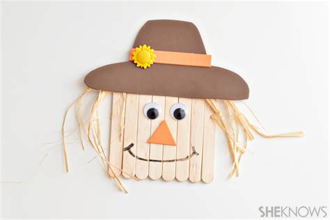 scarecrow craft for 3 simple scarecrow crafts