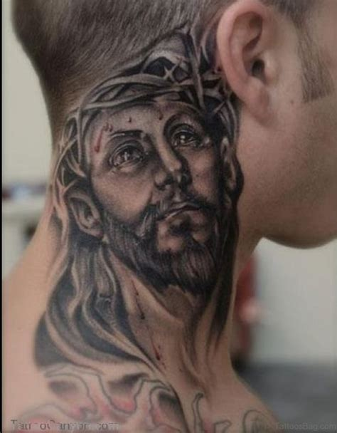 neck tattoo pain 27 spiritual jesus neck designs