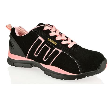 womens groundwork safety steel toe lightweight lace up