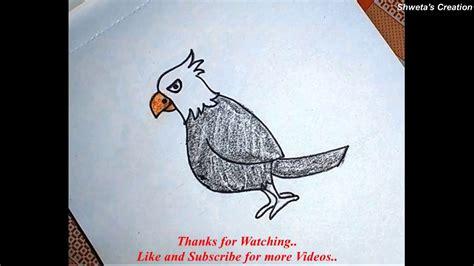 tutorial eagle youtube how to draw a cartoon eagle step by step for kids eagle