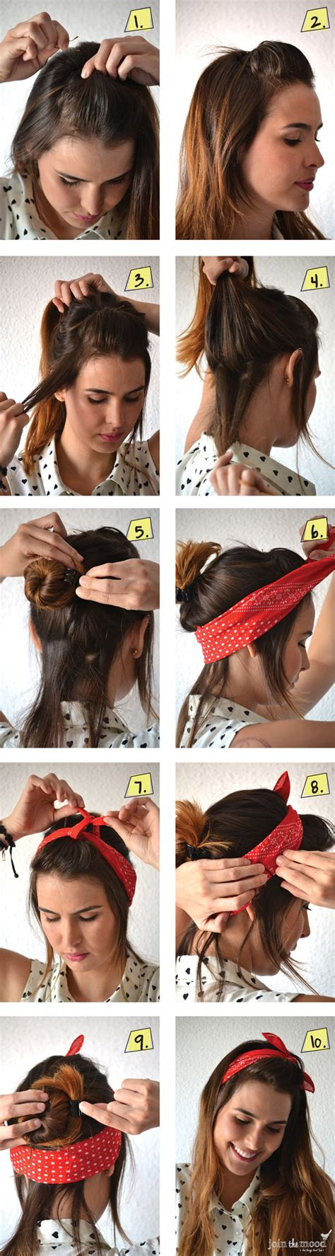 how to wear bandanas with bob hairstyles 10 fabulous diy hairstyles with hair accessories pretty