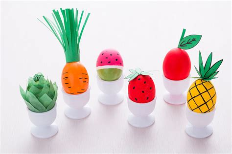 easter eggs ideas how to decorate easter eggs to look like fruits and veggies brit co