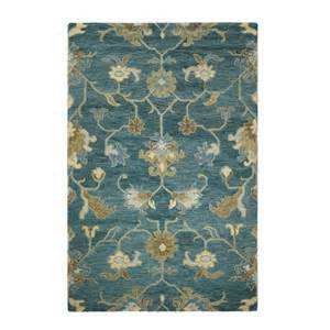 rugs home decorators home decorators collection montpellier teal 9 ft 9 in x 13 ft 9 in area rug 1997640330 the