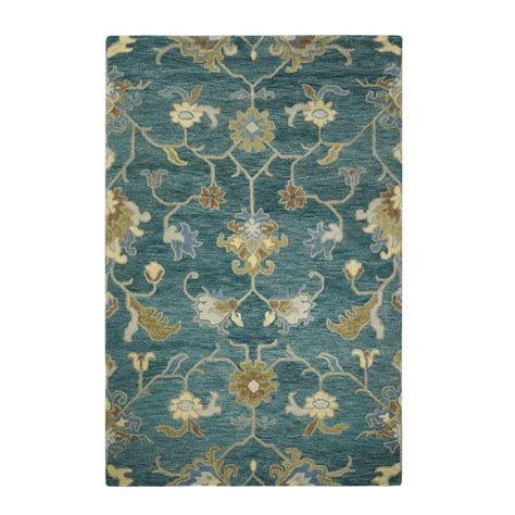 rugs home decorators home decorators collection montpellier teal 9 ft 9 in x