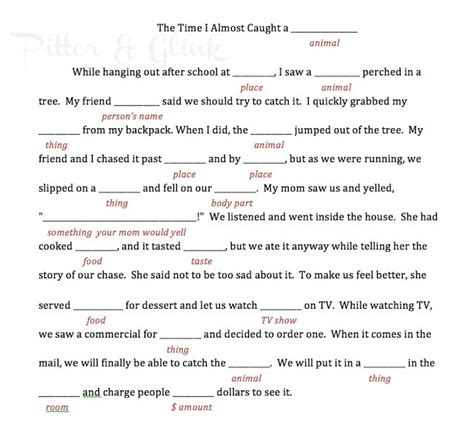 Mad Libs Letter Printable by 8 Best Images Of Cing Mad Libs Printable Free