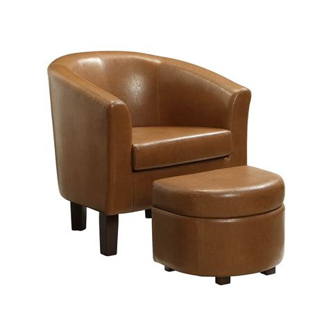 chair with storage ottoman laguna club chair with storage ottoman havana brown pu