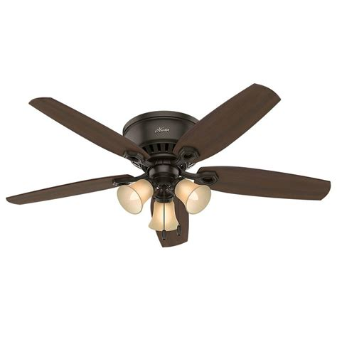 hunter builder elite 52 in indoor new bronze ceiling fan hunter builder low profile 52 in indoor new bronze