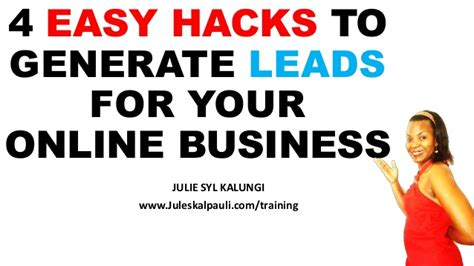 4 easy hacks to generate leads