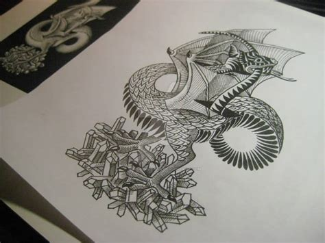 dragon tattoo stencil designs 40 trendy escher tattoos golfian
