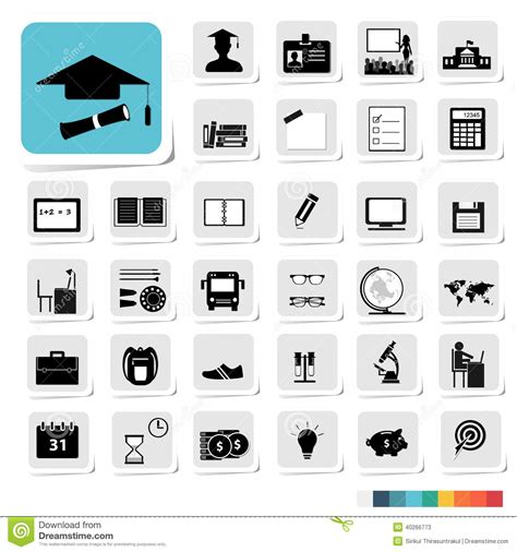 icon design concept education icon in business category concept stock