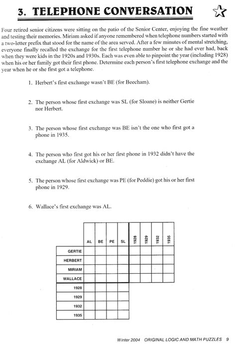 printable logic puzzle easy logic picture puzzles with answers www imgkid com the