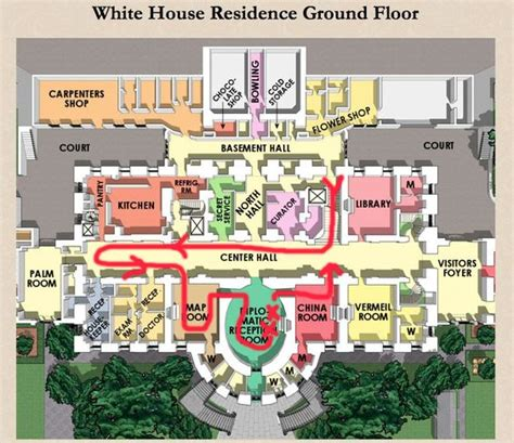floor plan of the white house residence ground floor plan the white house pinterest
