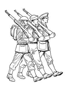 Armed forces colouring in pages   Soldier drawing