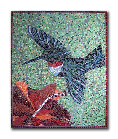 Mosaic Hummingbird Pattern   hummingbird mosaic craft ideas inspiration mosaics