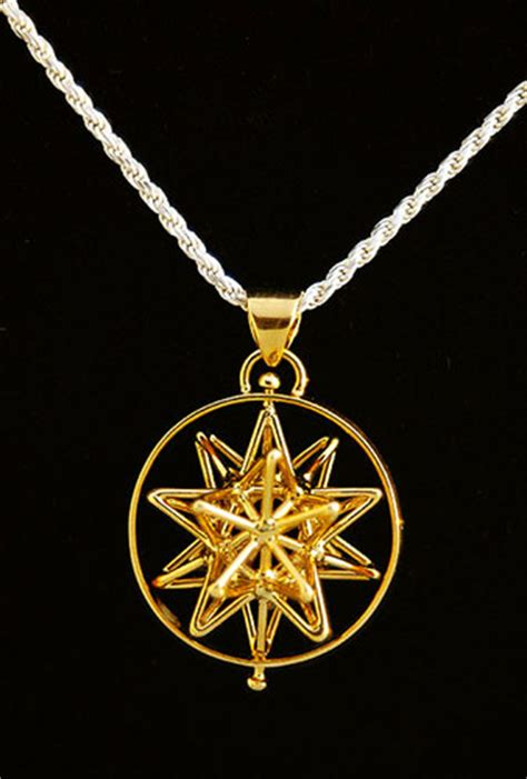 Misca Necklace i connect metaforms store icosahedron pendant gold plated