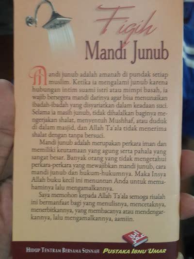 Buku Saku Surat Surat Yang Dibaca Rasulullah Ketika Pust Ibnu Umar buku saku fiqih mandi junub toko muslim title