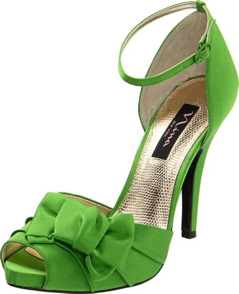 green shoes bridal prom special occasion platform heels shoe