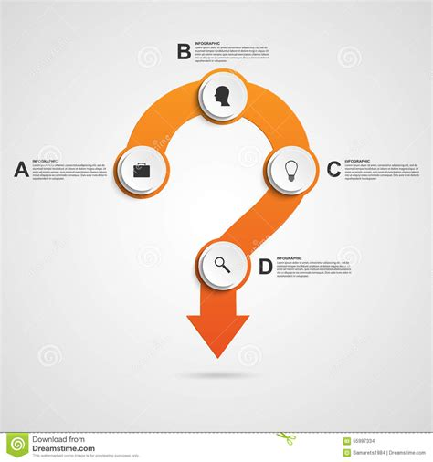 html question layout must contain a question abstract infographic in the form of question mark design