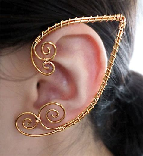 how to make ear wrap jewelry golden ouchless elven ear cuff wrap earring ear