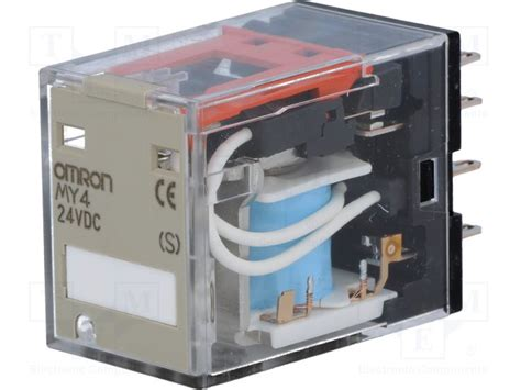 Relay Omron My4 12vdc my4 24vdc s omron relay electromagnetic tme electronic components