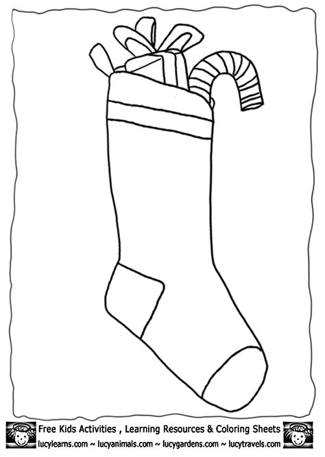 christmas stocking coloring page template christmas stocking templates az coloring pages