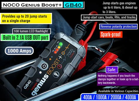 noco genius boost battery charger best car battery charger ultimate battery starter