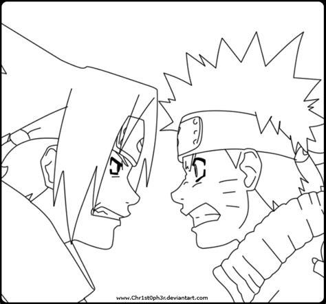 coloring pages of naruto and sasuke freecoloring4u com