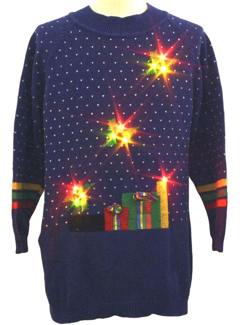 Sweater Led by Lightup Sweater Honors Unisex Blue