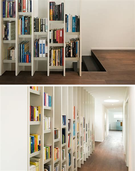 9 stylish staircases with bookshelves as safety barriers
