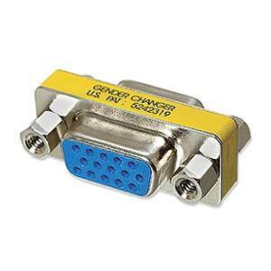Murah Gender Vga F Vga F cableorganizer vga gender changer hd15 f f thin