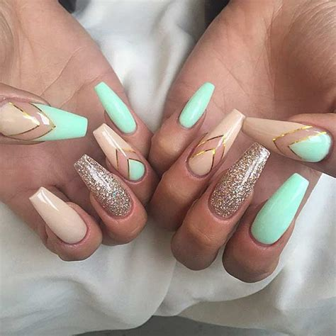 Nail Ideas by 31 Trendy Nail Ideas For Coffin Nails Page 2 Of 3
