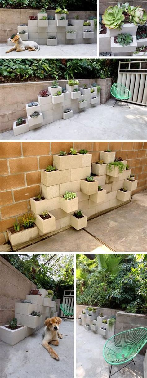 Concrete Planter Box Woodworking Projects Plans Cinder Block Planter Wall