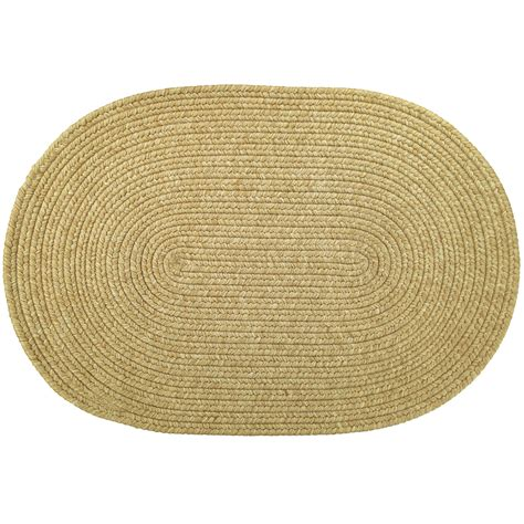 Oval Rugs Solid Braided Area Rugs Indoor Outdoor Oval Rectangle