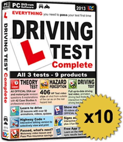 driving theory test sections driving test complete software pack of 10