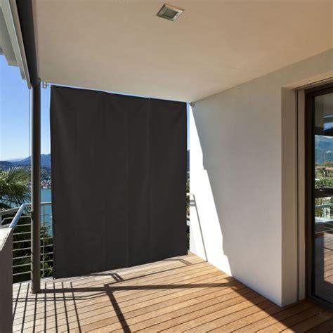 vorhang seil balkon sichtschutz sonneschutz vorhang seitenmarkise