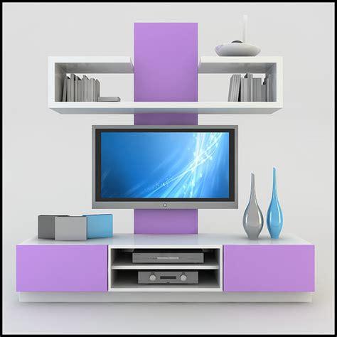 tv unit designs modern tv wall unit 3d model