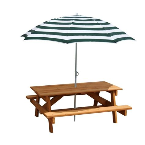 Gorilla Playsets Children S Picnic Table With Umbrella 02