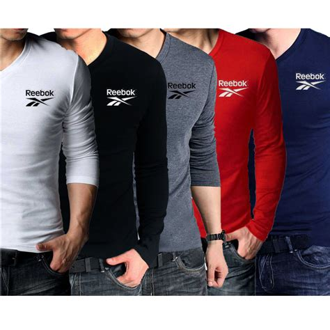 pack of 5 v neck sleeves reebok t shirts shopping in pakistan
